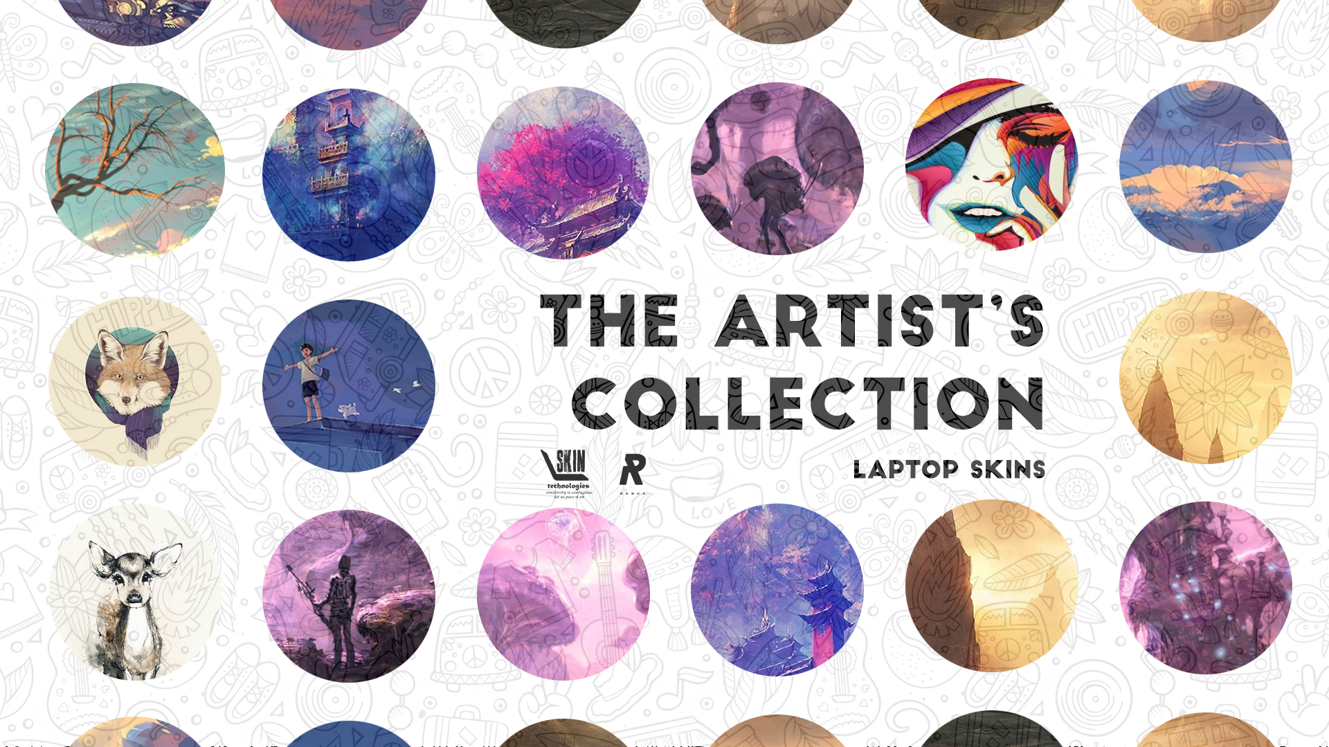 The Artist's Laptop Skins Collection