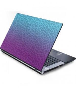 Blue and Purple Cheetah Print Laptop Skin