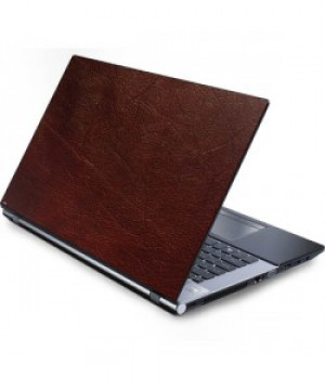 Leather print laptop skin
