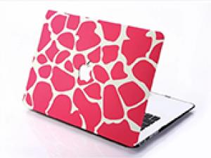 Pink spots macbook skin